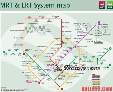 Kinh nghiệm đi tàu điện ngầm MRT ở Singapore