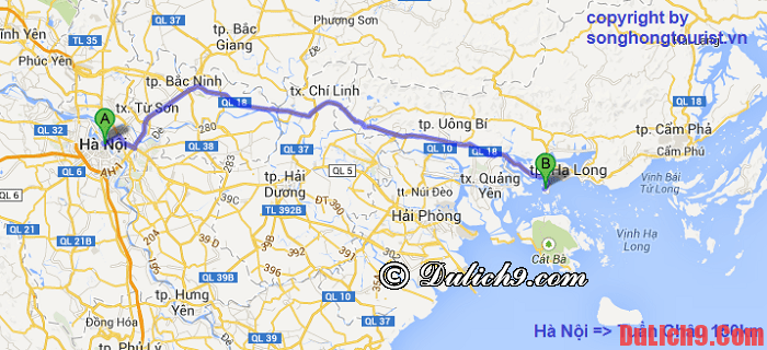 Những kinh nghiệm du lịch Hạ Long, đường đi