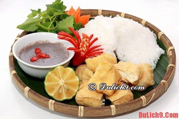 Bún đậu mắm tôm, món ăn khi du lịch Hà Nội
