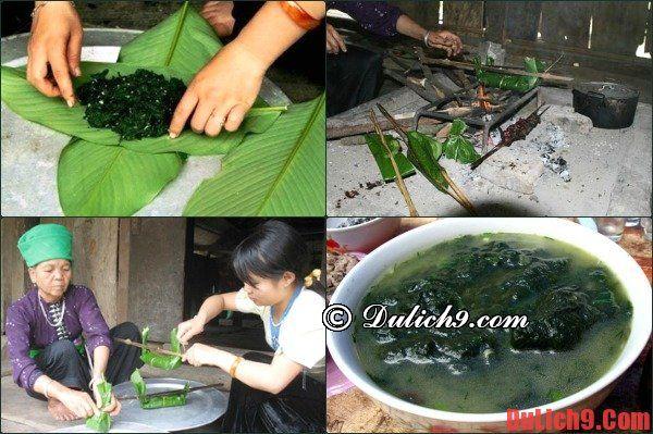 Đặc sản Hà Giang: rêu nướng