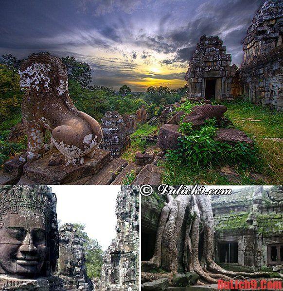 Kinh nghiệm du lịch Angkor Wat ở Campuchia: Danh lam thắng cảnh đẹp, nổi tiếng ở Angkor Wat - Campuchia