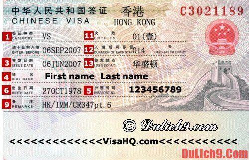 Những kinh nghiệm du lịch Hồng Kông bổ ích: Kinh nghiệm xin visa đi du lịch Hồng Kông