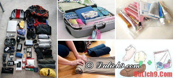 Nguyên tắc vàng khi xếp hành lý du lịch bạn nên nhớ