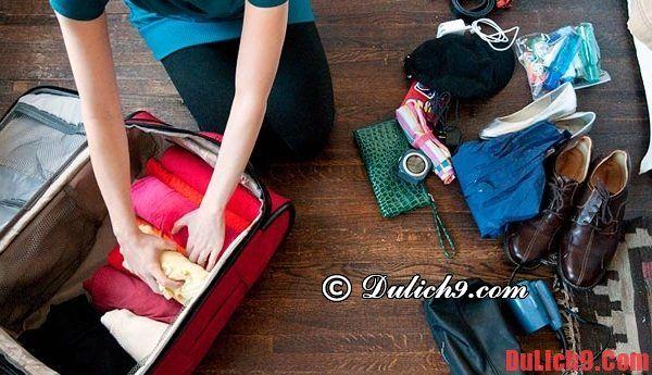 Nguyên tắc vàng khi xếp hành lý du lịch