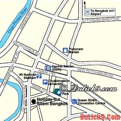 Vị trí khách sạn Holiday Inn Bangkok Silom