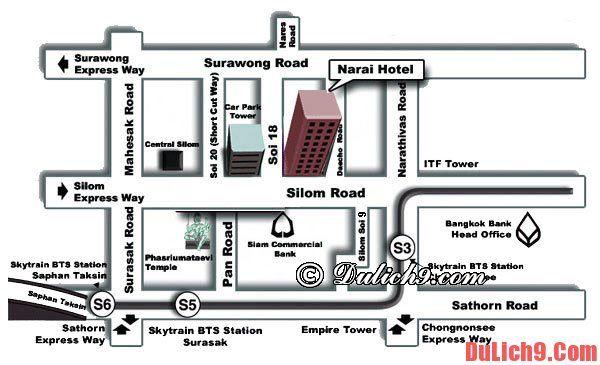 Vị trí khách sạn Narai Hotel