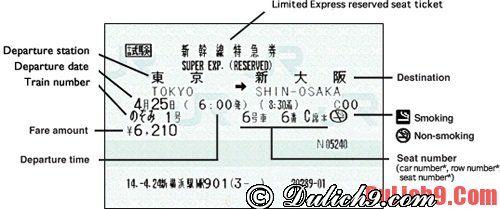 Một số kinh nghiệm đi tàu cao tốc ở Nhật Bản: Hướng dẫn du lịch Nhật Bản bằng tàu cao tốc