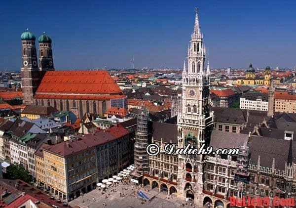 Munich - Địa điểm đẹp, nhiều công trình ở Đức: Danh lam cảnh đẹp, địa điểm du lịch hấp dẫn, nổi tiếng ở Đức