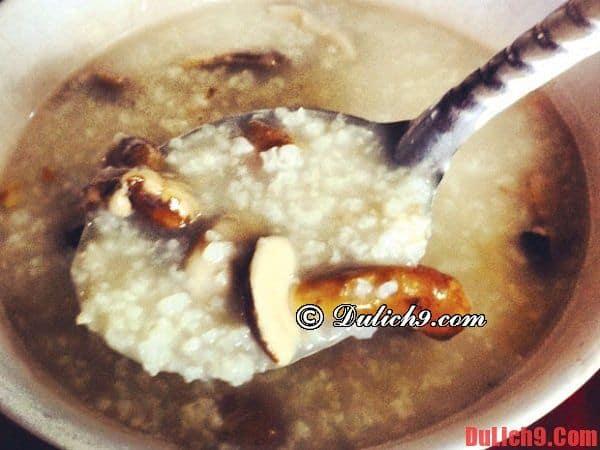 Cháo nấm Tràm - Món ngon không thể chối từ khi du lịch Phú Quốc