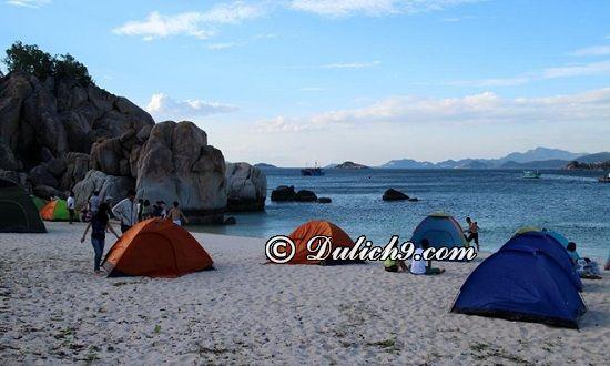 Khách sạn, nhà nghỉ ở Cù Lao Chàm/ Ở đâu khi du lịch Cù Lao Chàm: Kinh nghiệm cắm trại khi du lịch Cù Lao Chàm