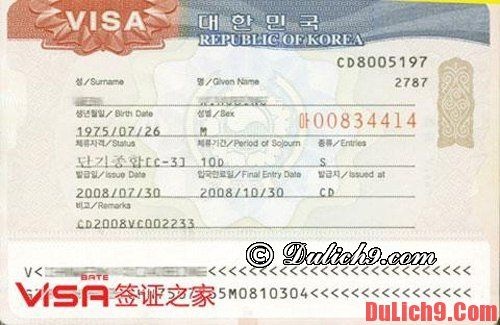 Các loại giấy tờ cần thiết để làm thủ tục visa đi Hàn Quốc