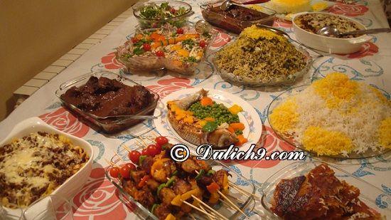 Khám phá nét ẩm thực độc đáo của Iran/ Ăn gì ngon khi du lịch Iran