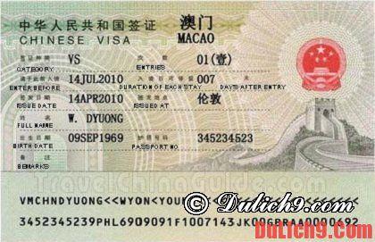 Kinh nghiệm xin visa nhập cảnh khi du lịch Ma Cao tự túc