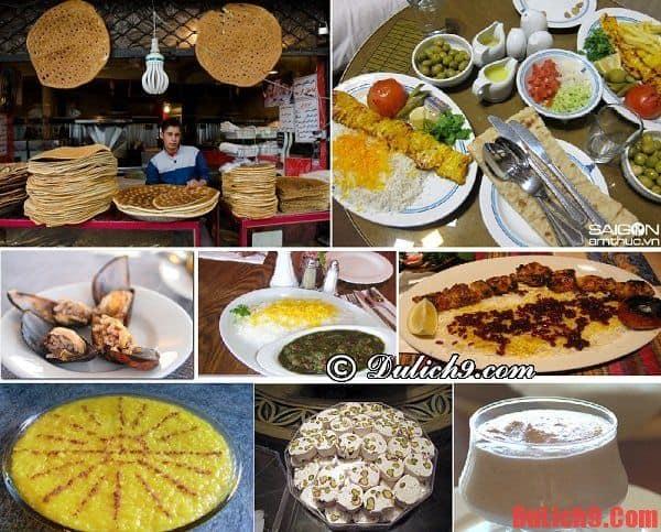 Những món ăn đặc sản nên thưởng thức khi du lịch Iran