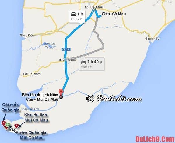 Đường đi tới Cà Mau đơn giản nhất - Kinh nghiệm du lịch Cà Mau. Hướng dẫn cách di chuyển tới Cà Mau du lịch
