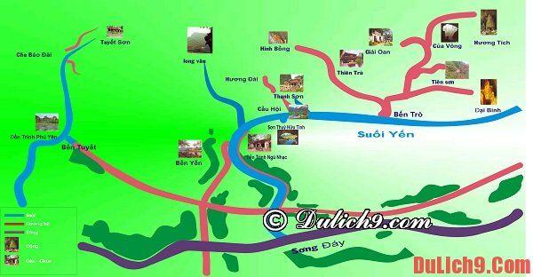 Đường đi đến chùa Hương gần và thuận tiện nhất