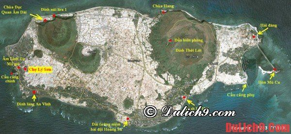 Bản đồ du lịch đảo Lý Sơn