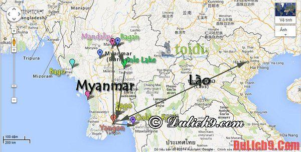 Cách di chuyển tới Myanmar: Kinh nghiệm đi lại khi du lịch Myanmar