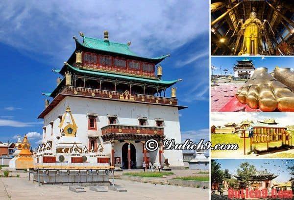 Tu viện Gandan Khiid – Điểm tham quan thú vị nhất ở Ulan Bator, Mông Cổ. Địa điểm du lịch nổi tiếng ở Mông Cổ. Du lịch Mông Cổ đi đâu tham quan?