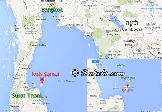 Di chuyển đến đảo Koh Samui bằng cách nào/ Phương tiện đi lại trên đảo Koh Samui