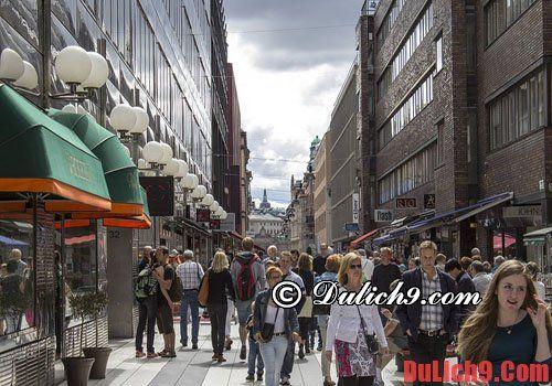 Norrmalm - Địa điểm mua sắm giá rẻ khi du lịch Thụy Điển