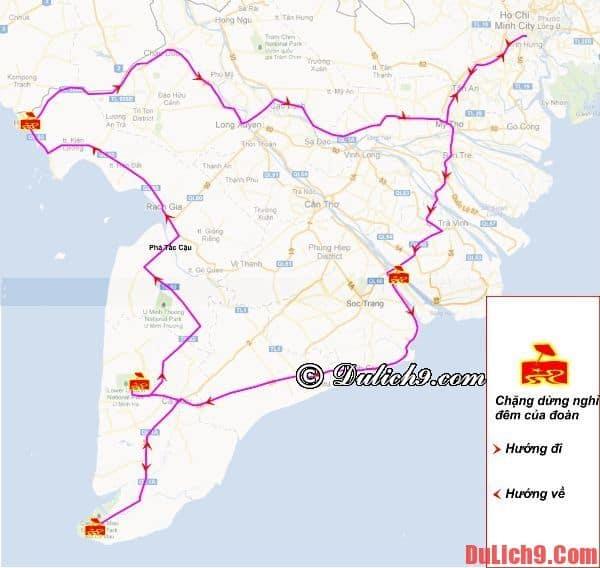 Hướng dẫn lịch trình phượt Cà Mau - Hà Tiên - Châu Đốc 5 ngày?