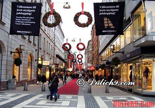 Địa điểm mua sắm khi du lịch Thụy Điển