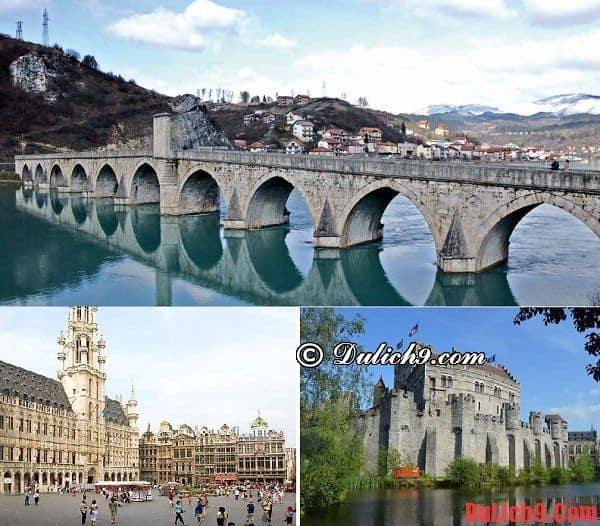 Những địa điểm tham quan nổi tiếng ở Bỉ - Kinh nghiệm du lịch Bỉ. Du lịch Bỉ nên đi đâu chơi?
