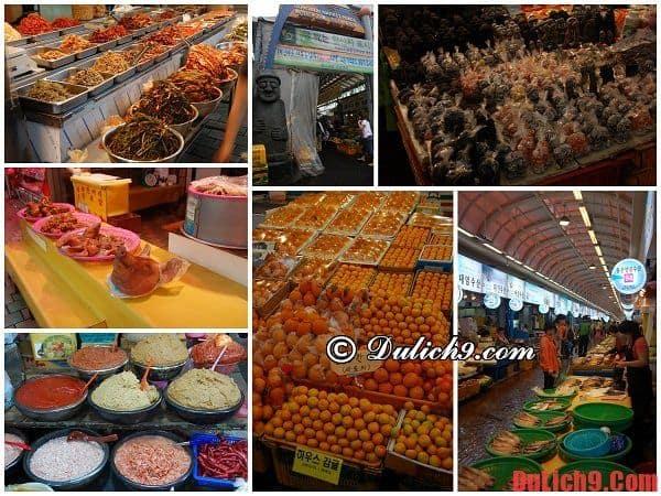 Chợ truyền thống Jeju Dongmun - Du lịch đảo JeJu mua sắm ở khu chợ lớn nhất nhì Hàn Quốc