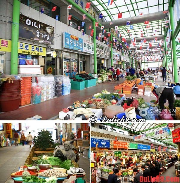 Du lịch Hàn Quốc mua sắm ở khu chợ truyền thống Gyeongju Jungang