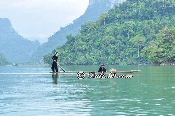 Địa điểm tham quan khi du lịch sinh thái hồ Ba Bể - Kinh nghiệm du lịch hồ Ba Bể Bắc Kạn