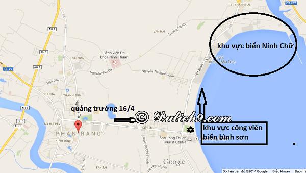 Cách di chuyển tới biển Ninh Chữ/ Phương tiện đi lại khi du lịch Ninh Chữ