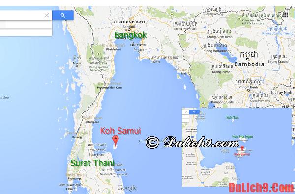 Di chuyển từ Bangkok tới sân bay Surat Thani và tới Koh Samui