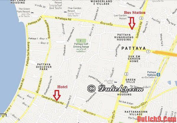 Hướng dẫn cách di chuyển tới Pattaya