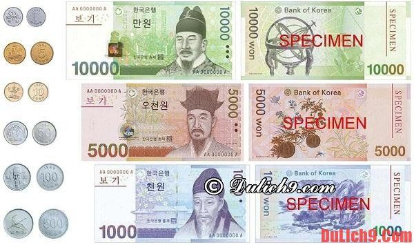 Chuẩn bị tiền khi du lịch Seoul