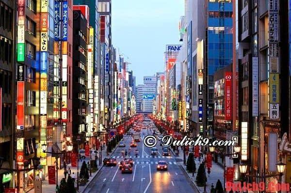 Điểm du lịch hấp dẫn và không nên bỏ qua khi du lịch Tokyo