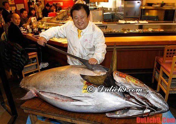 Xem đấu giá cá ngừ tại chợ cá Tsukiji