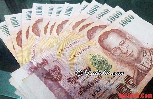 Đơn vị tiền tệ của Thái Lan là đồng Thái Baht. Kinh nghiệm đổi tiền baht khi du lịch Thái Lan