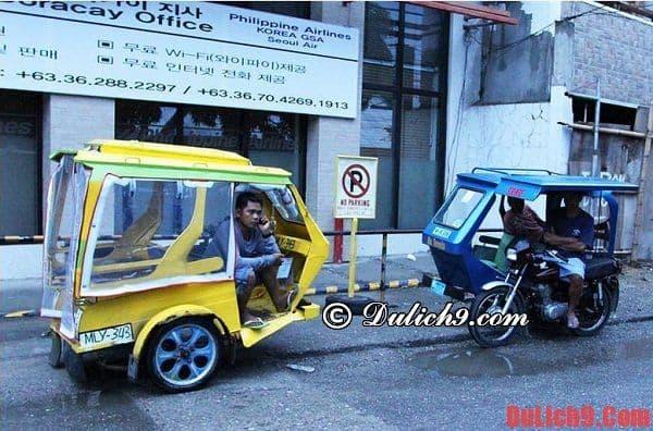 Cẩm nang hướng dẫn du lịch Boracay, Philippines tự túc đi lại bằng xe Tricycle
