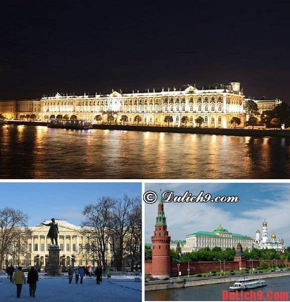 Tham quan ở đâu khi du lịch Nga?
