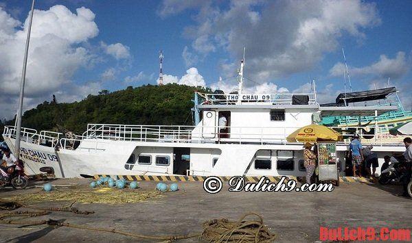 Phương tiện và cách di chuyển đi - đến đảo Thổ Chu - kinh nghiệm du lịch đảo Thổ Chu