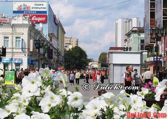Nizhny Novgorod - trung tâm mua sắm có phương tiện thuận tiện