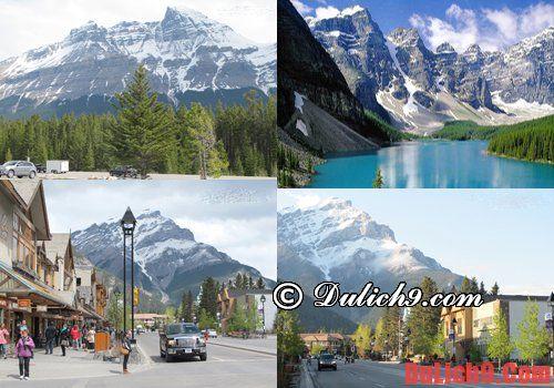 Núi đá Rockies nên đi du lịch tại Canada.