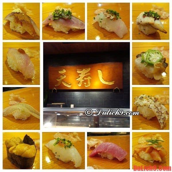 Tenzushi Kyomachi - Nhà hàng sushi tốt nhất và nổi tiếng nhất Nhật Bản ở Fukuoka
