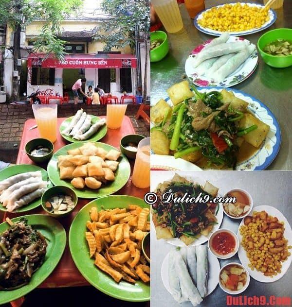 Địa chỉ ăn phở cuốn Hà Nội ngon nhất, Ăn ở cuốn ngon ở đâu, quán nào khi du lịch Hà Nội?