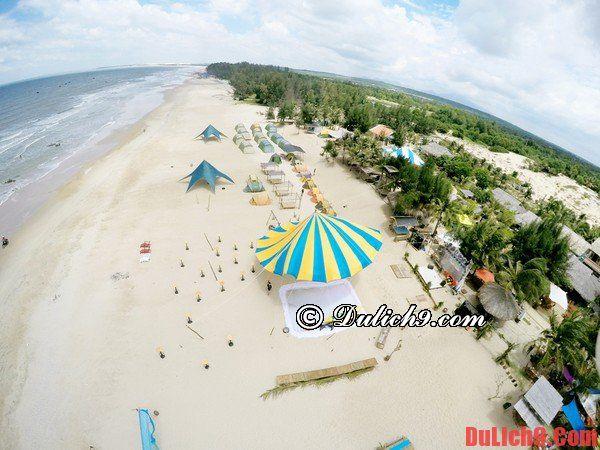 Du lịch ngủ lều trên bãi biển Coco Beach Camp