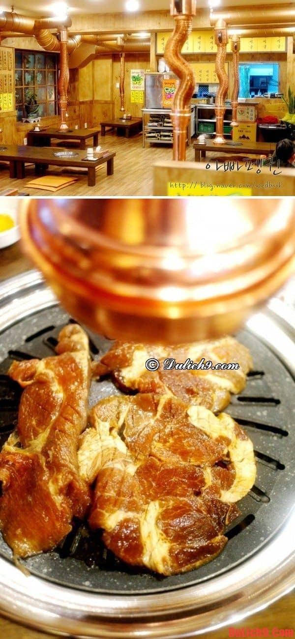 Địa chỉ thưởng thức thịt nướng Hàn Quốc tuyệt vời nhất khi du lịch Seoul Hàn Quốc giá rẻ và tiết kiệm