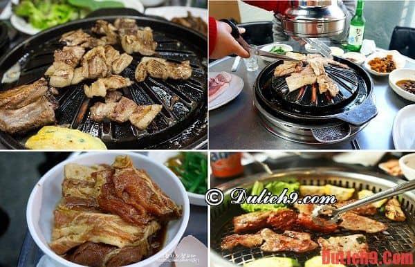 địa chỉ thưởng thức thịt nướng Hàn Quốc ngon nhất khi du lịch Seoul, Hàn Quốc tự túc ăn uống