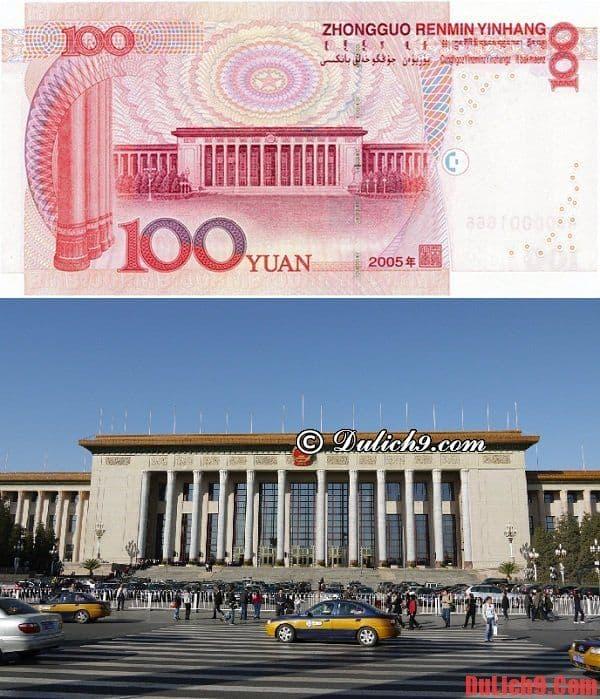 Đại lễ đường Nhân Dân - Điểm tham quan du lịch Trung Quốc trên đồng 100 tệ