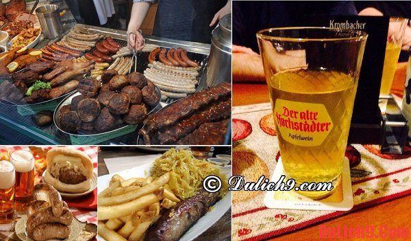 Những món ngon đặc sản và địa chỉ ăn uống giá rẻ, chất lượng ở Frankfurt
